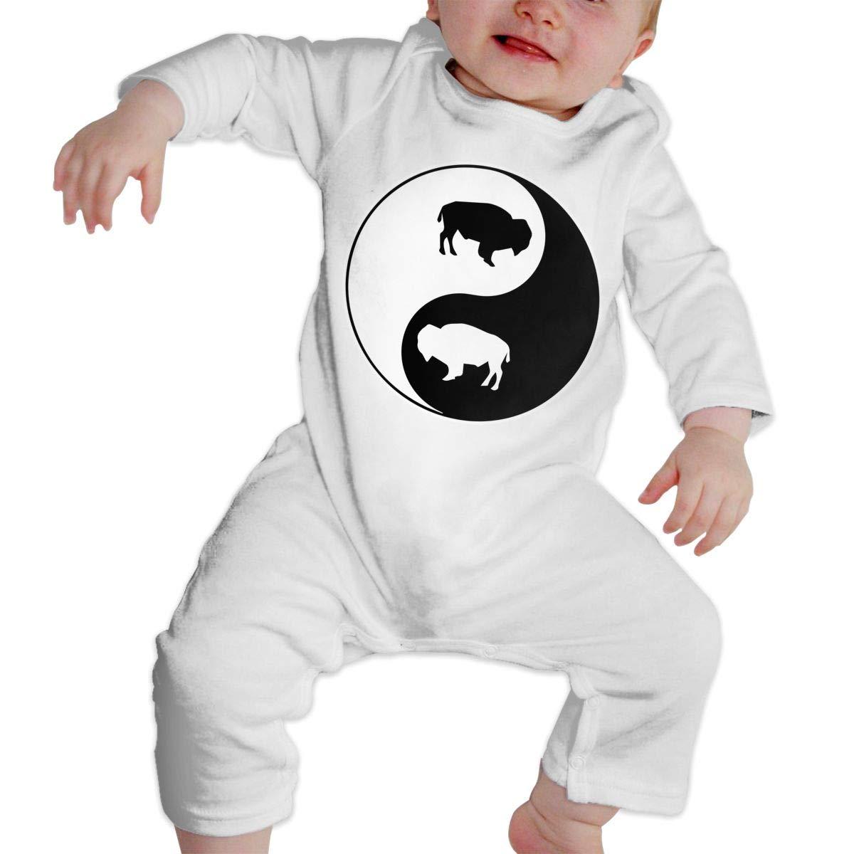 Yin Yang Bison-1 Infant Baby Girl Boys Soft /& Breathable Romper Jumpsuit Bodysuit