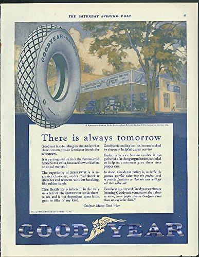 Goodyear Tires Frank P Lide Anniston AL / Stewart-Warner Radio Speaker ad 1926
