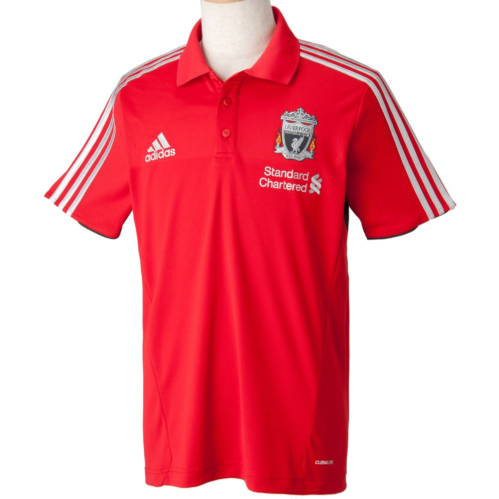 adidas V12985 - Polo, diseño del FC Liverpool, color rojo: Amazon ...