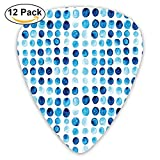Newfood Ss Retro Hand Drawn Circles Rounds Color Cells Painted Bubble Like Grungy Style Guitar Picks 12/Pack Set