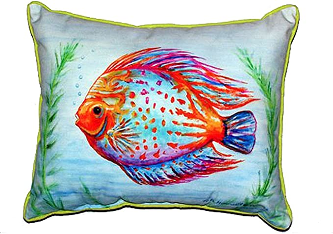 Bed Pillows Home Kitchen Betsy Drake Sn015 Blue Marlin Small Indoor Outdoor Pillow 11 X14 11 X14
