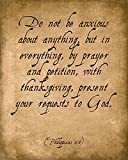 Do Not Be Anxious About Anything (Philippians 4:6), bible verse art print