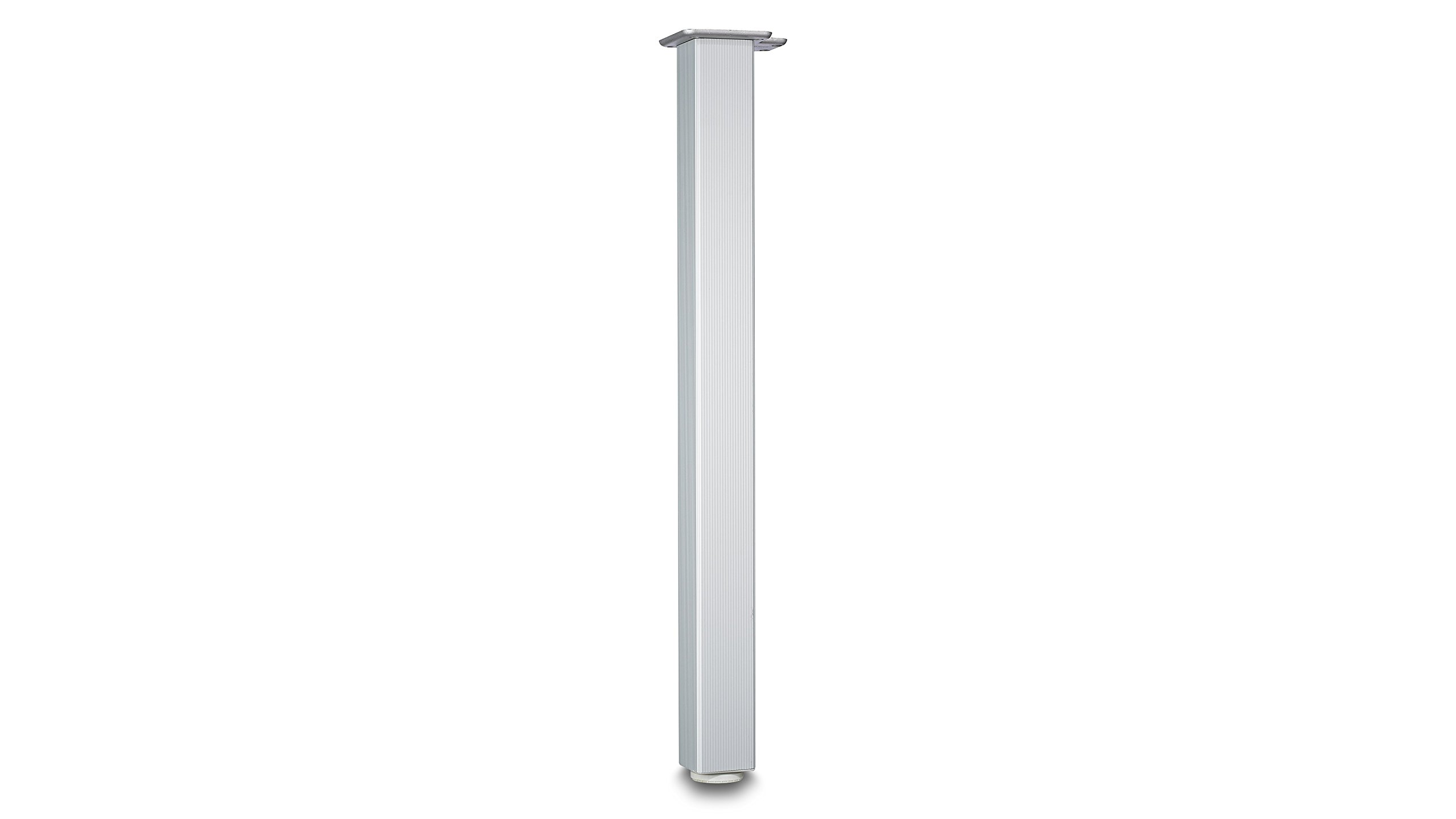 Richelieu Hardware - 64671010 - Box of 4 - Height: 710 mm (28'') - Design Table Leg - 6467 - 28 in - Aluminum  Finish