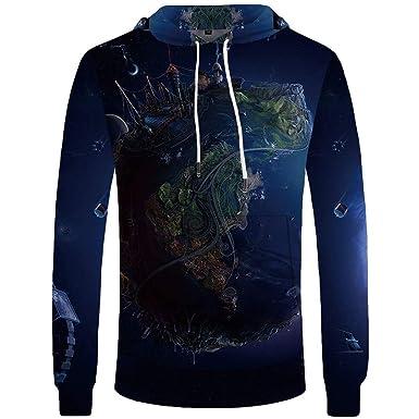 8f3299b3fa99 Azroentpsy Skull Hoodie Men Punk 3D Printed Black Streetwear Green Flame  Mens Clothing Long Hoodie Sweatshirt