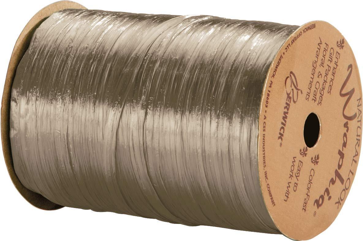 Pearlized Taupe Wraphia Ribbon