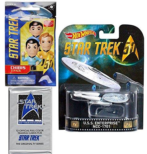 Hot Wheels Star Trek Space Pack U.S.S. Enterprise & 25th Anniversary Original TV Series Trading Cards STAR TREK Chibi Figure Blind Bag 3-PACK - Batman Arkham Knight Costume Replica