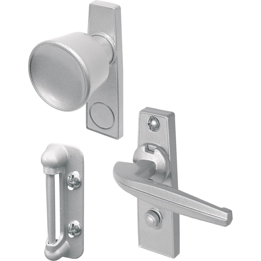 primeline products k tulip knob latch set for screen or storm door aluminum screen door hardware amazoncom