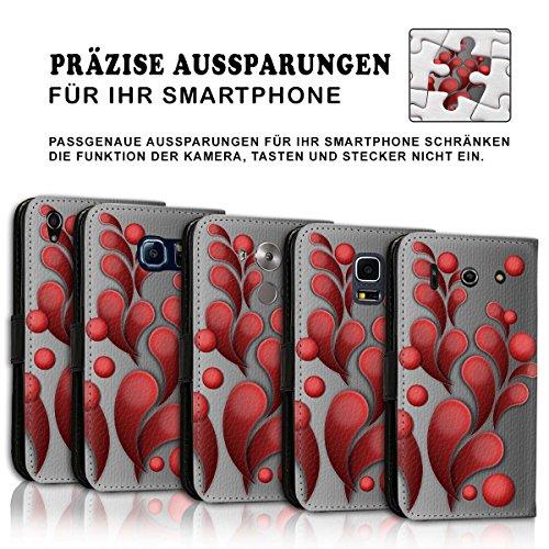 Wallet Book Style Flip Handy Tasche Case Schutz Hülle Schale Motiv Etui für Apple iPhone 4 / 4S - Design Flip MV216