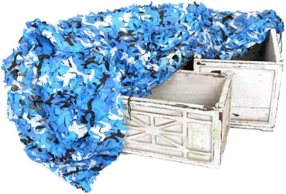 XIAOXIAO 青 海洋 迷彩 周囲の環境に適応する 軽量 - 丈夫 屋外用シェードネット 庭園 望楼 キャンプ パーティー/お祭り飾り (Size : 10x10m)