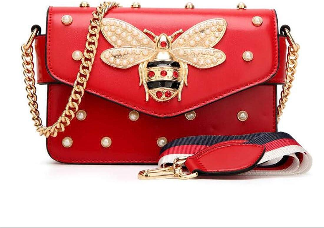 QIN FE Women Messenger Bags Little bee Handbags Crossbody Bags Shoulder Bags Designer Handbags with Pearl Gift