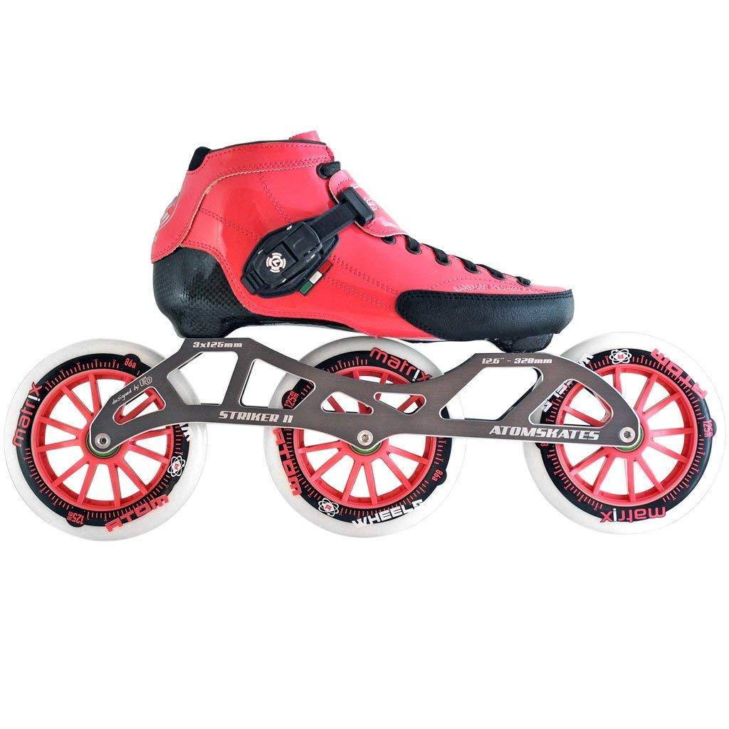 Atom Luigino Strut 125 Inline Skate Package (Size 6, Pink)