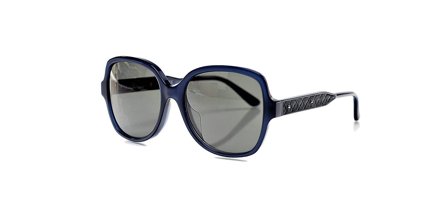 Bottega Veneta BV0015SA 004 Blue Blue Somke Sunglasses at ...
