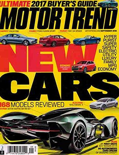 Motor Trend September 2016 New Cars 2017 - Motor Trend Magazine Shopping Results