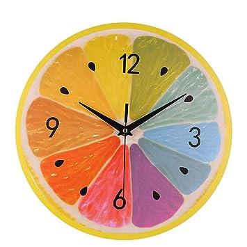 WSEB Wanduhr Runde Digitale Wanduhren Wohnzimmer Form Hängende Uhr ...