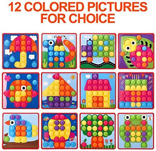 61BpjWr%2BlkL : primero presione el botón de color en el tablero colgante de mosaico, luego su hijo puede crear una imagen de estilo de dibujos animados vívida única en el tablero colgante de acuerdo con su propia creatividad e imaginación. ¡Mejora las habilidades de diseño de tu hijo! : Hecho de materiales ABS amigables con el medio ambiente, el color es brillante, la superficie es redonda y suave y no daña la mano. El diseño del botón redondo proporciona la máxima seguridad para su hijo y juega con confianza. Satisfacer las necesidades de los niños y los padres y asegurar una vida más larga. Ha superado las normas de seguridad de pruebas y la certificación CE. : la placa para colgar es liviana y portátil, lo cual es muy adecuado para niños que esperan en el interior durante mucho tiempo. Es conveniente para los padres y los niños usar el tiempo libre, una bandeja de plástico, que puede organizar mejor el almacenamiento de los juguetes, almacenar los botones de manera conveniente y llevarlos a parques al aire libre, playas o vacaciones. Se recomiendan niños mayores de 2 años.