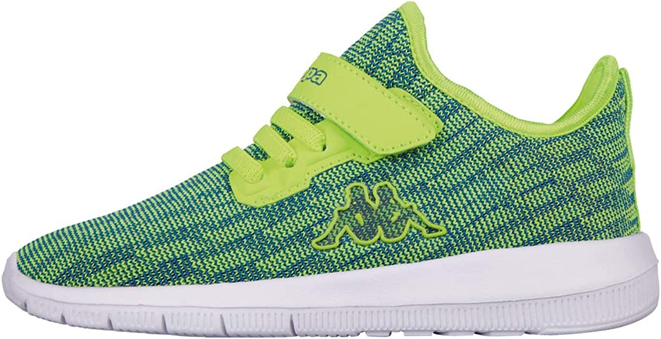Kappa Gizeh Sneakers Mädchen Jungen Unisex Kinder Grün (Lime/Blue)