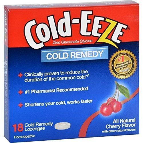 UPC 091108100136, Cold Eeze Cld Drps Box Cherry 18