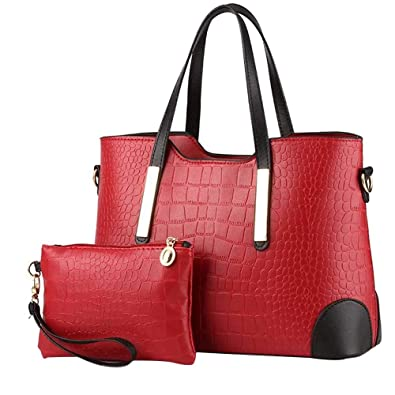 Amazon.com  HIINST Handbags Bags FIap Top Handle Satchel Handbags Tote  Purse Leather Tote Black Women Bag Luis Vuiton Y1213 Color F  Shoes dd75912e4e36f