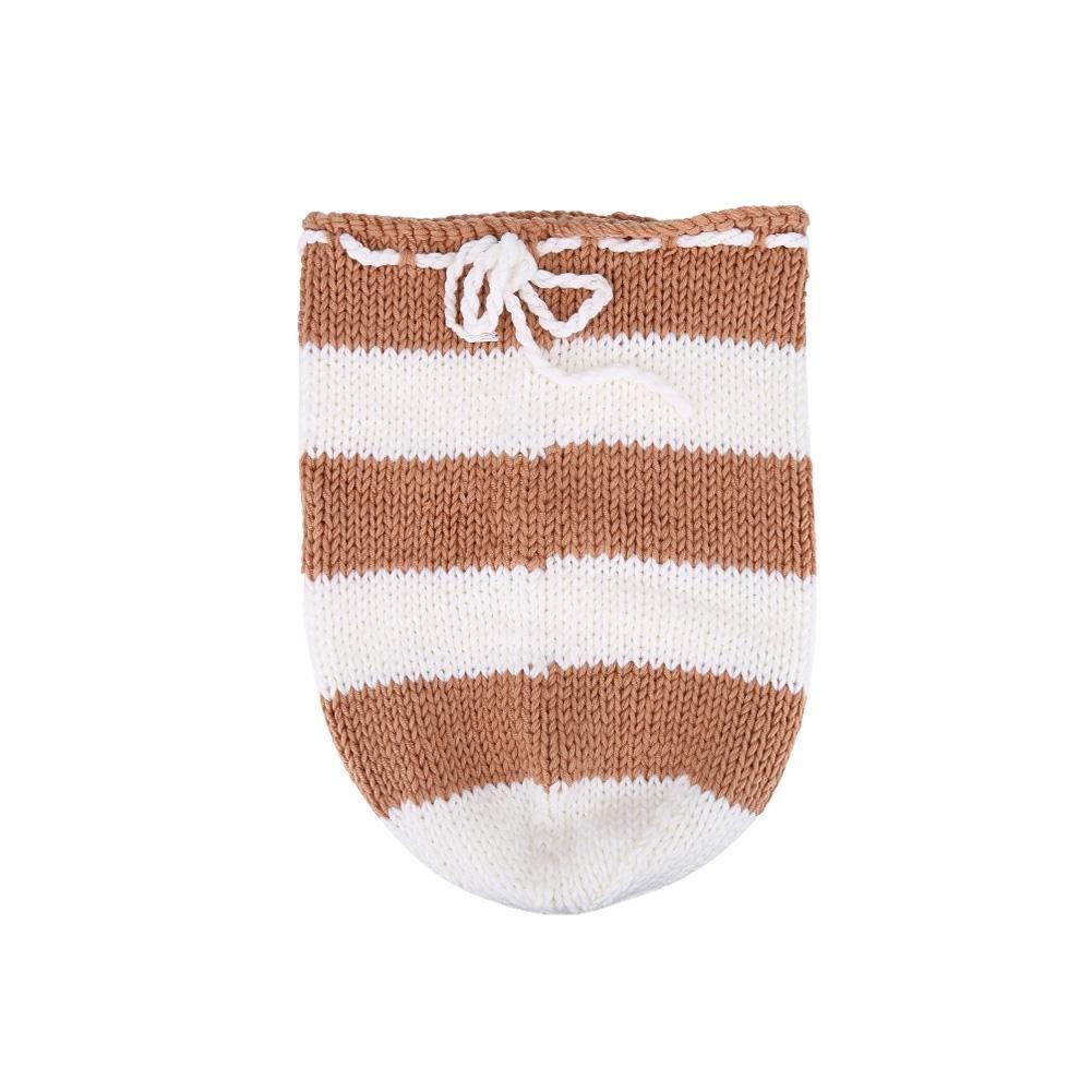 Acouto Nouveau-né Sac de Couchage tricotés à la Main Wraps vêtements Accessoires Photo(A)
