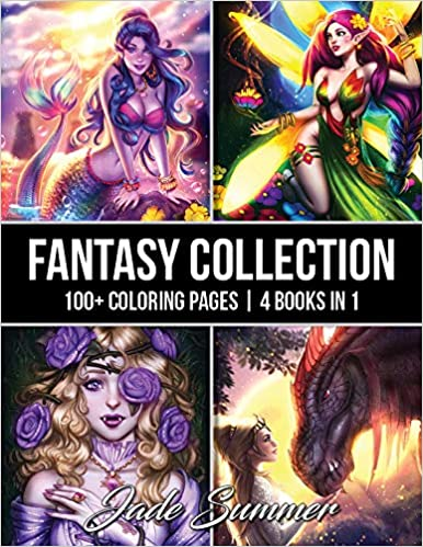 Fantasy Collection: An Adult Coloring Book with 100+ ...