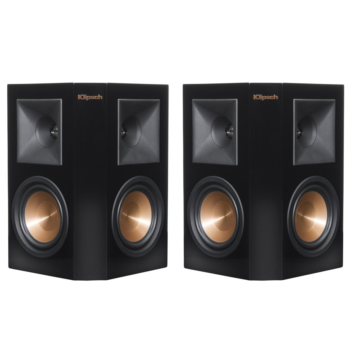 Klipsch RP-240S Reference Premiere Surround Speakers with Dual 4'' Cerametallic Cone Woofers - Pair (Piano Black)