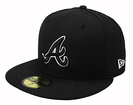284d91c89bbb2 Image Unavailable. Image not available for. Color  New Era 59fifty Atlanta  Braves MLB Cap Men s Fitted Hat ...