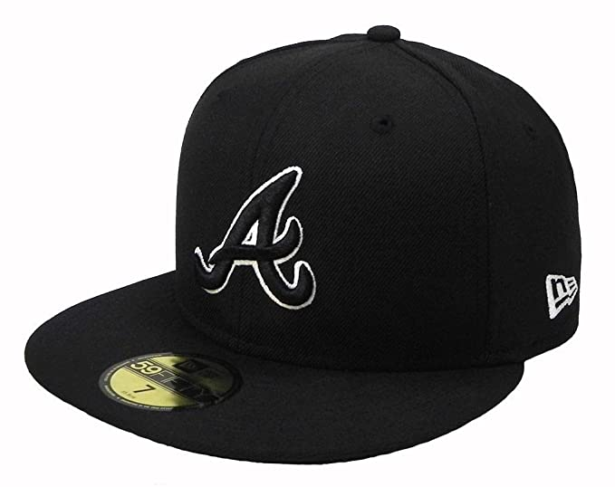 premium selection aec3e 4fff5 Image Unavailable. Image not available for. Color  New Era 59fifty Atlanta  Braves MLB Cap Men s Fitted Hat (7 1 2)