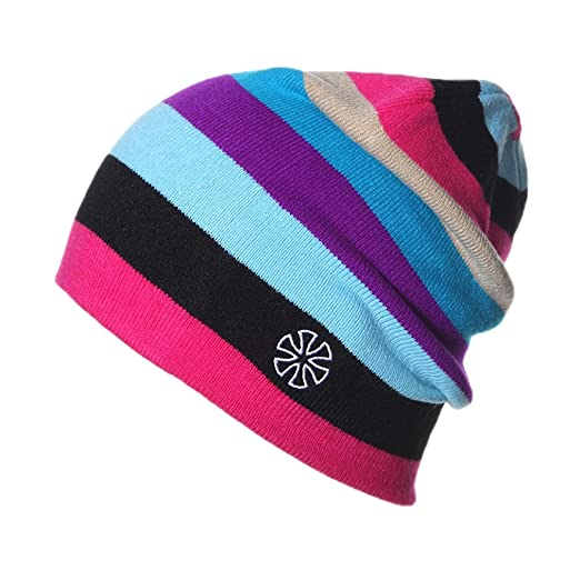 24d29fae1 ACVIP Men Women Stripes Knit Hat Snowboard Beanie Skull Cap