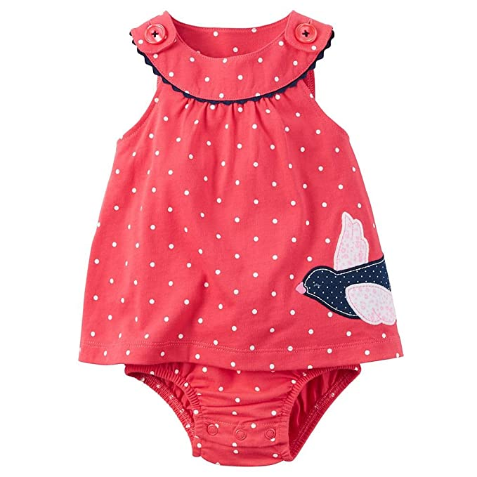 a8eaae63201 Amazon.com  Carters Baby Girls  Bird Dress Romper (18 Months