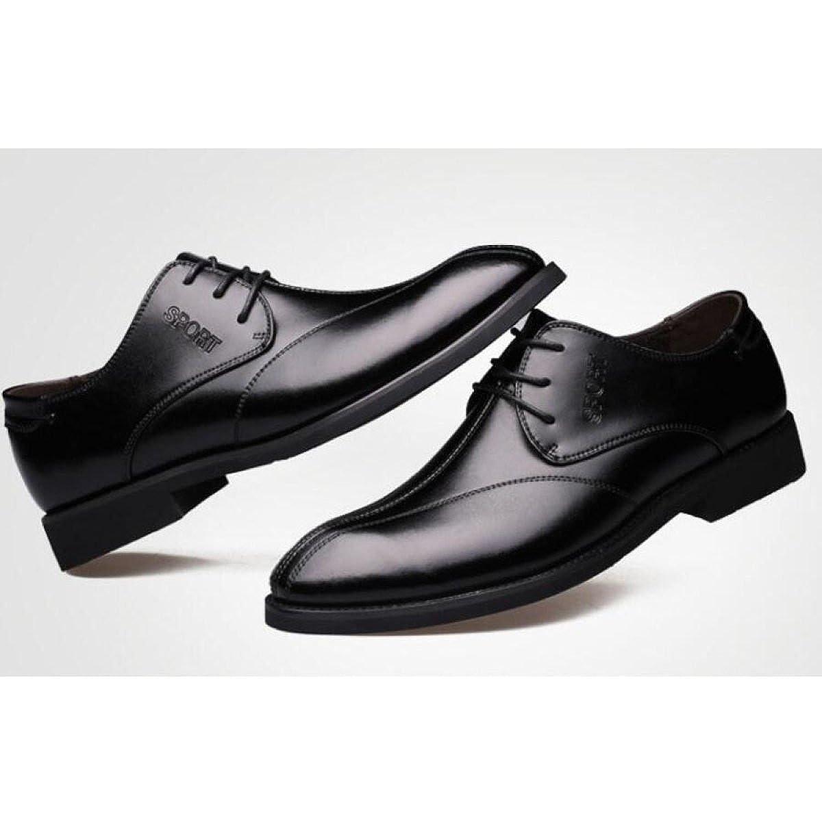 Herren Business-Schuhe Sommer Spitz Kleid Einfarbig Herrenschuhe Spitzenschuhe Hochzeit Kleid Spitz Schuhe schwarz 596247