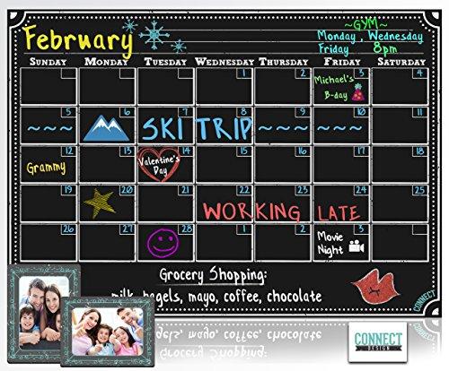 Magnetic Refrigerator Calendar Chalkboard Design product image
