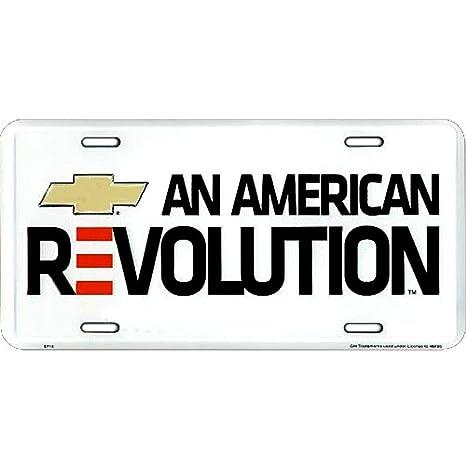License Plate Signs 4 Fun Slaca Chevy American Rev