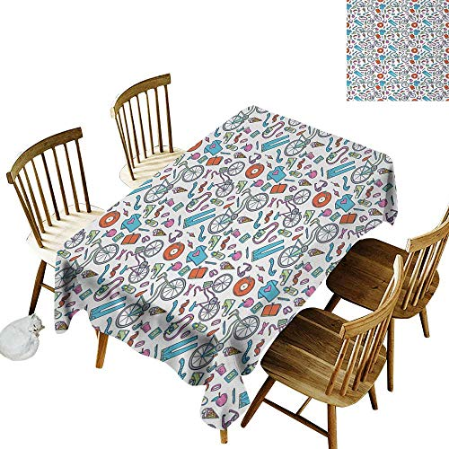 Camping rectangular tablecloth W60
