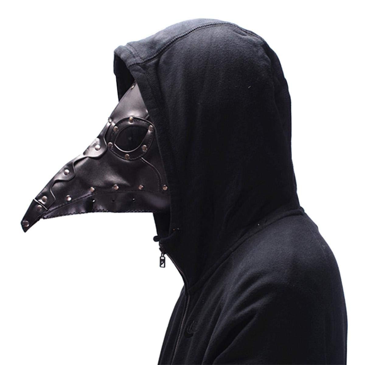 KOBWA Steampunk Plague Medici Mask, Retro Gotico Stile del Naso Lungo Becco Maschera Costume Cosplay Props Halloween in Maschera Maschera Intera White