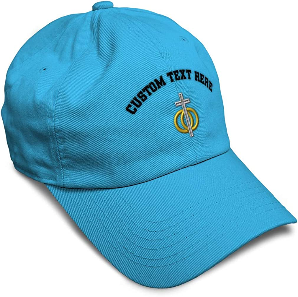 Custom Soft Baseball Cap Marriage Symbol Embroidery Dad Hats for Men /& Women