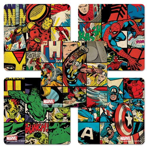Marvel Retro Style Stickers - 100 Per Pack