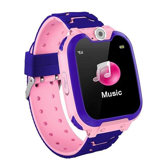 BOBOLover Smartwatch Niños, Reloj Inteligente para Niños Impermeable Hacer Llamadas, Chat de Voz, SOS, Cámara, Mejor Regalo para Niño niña de 3 a 12 ...
