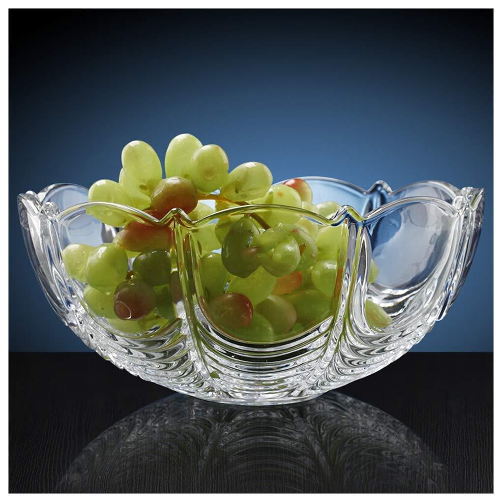 Y.H.Valuable フルーツバスケット 家庭用フルーツボウル透明クリスタルガラスフルーツプレートヨーロッパのクリエイティブ乾燥フルーツプレートキャンディープレート   B07QTWXN9G