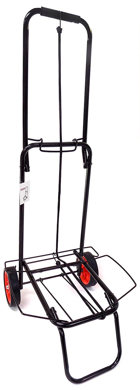 Portable Folding Luggage Cart, Lightweight Metal Carry Tool Travel Luggage Cards