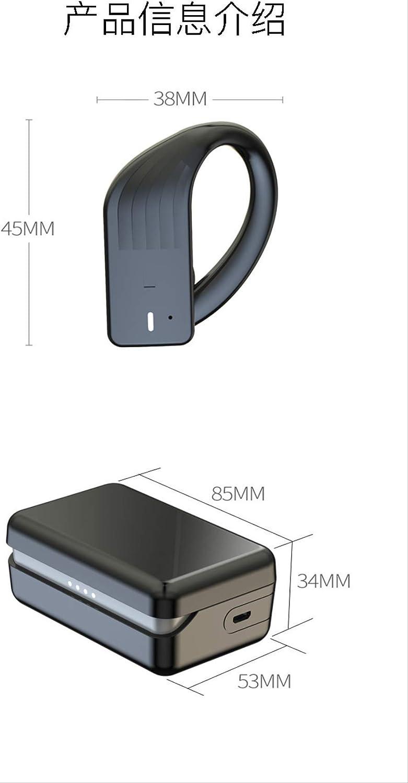 Bluetooth-headset 5.0 Dubbele Hangende Oren Sport Waterdichte Draadloze Slimme Auto Bluetooth-headset Met Oplaadcompartiment blauw rood