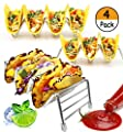 4 Pack - Taco Holder, Stainless Steel Taco Stand Rack | Party Platters and Serving Trays, Baking Accessories for Oven Use, Dishwasher Safe