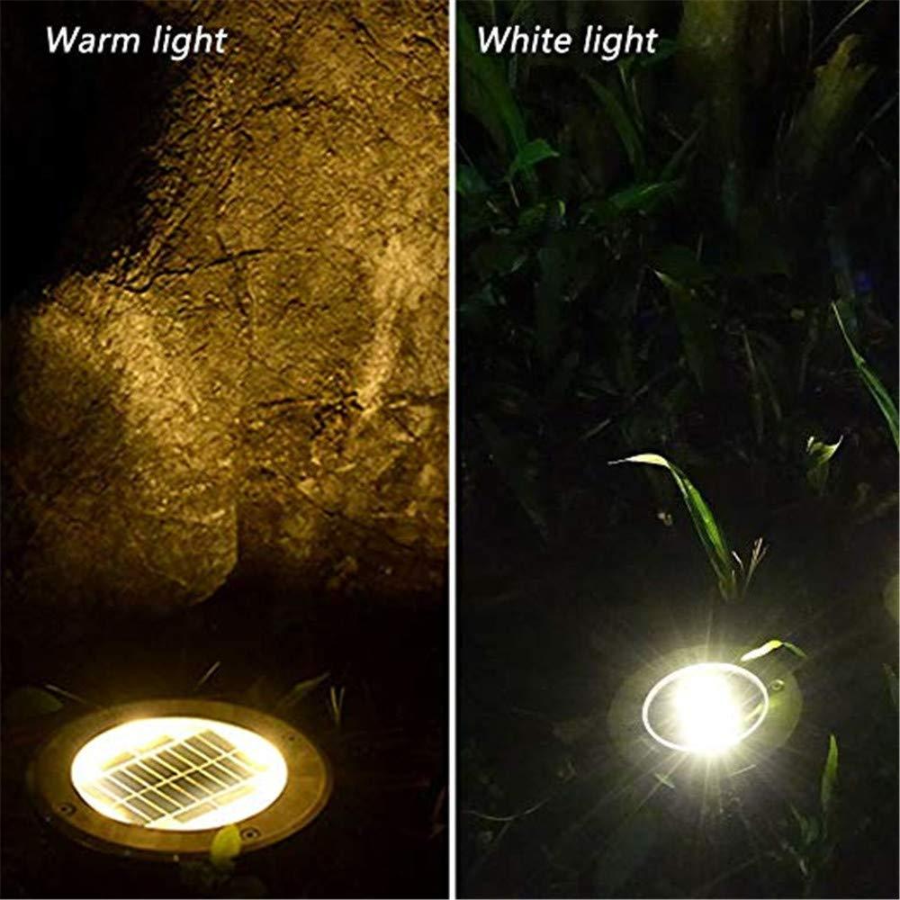 4 Pack 8 LED Solar-Gartenleuchte kaltes wei/ßes Licht XINLEE/® Bodenleuchten Wasserdichte Outdoor Deck Lichter f/ür Hof Patio Lawn Pond Pathway Auffahrt Gehweg