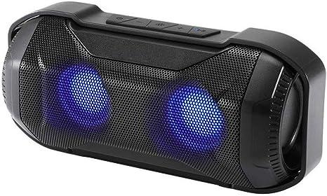 qiyan10w Altavoz Bluetooth Portátil con Bajo Superior Led Luces Ipx56 Resistente al Agua-en Altavoces Portátiles: Amazon.es: Electrónica