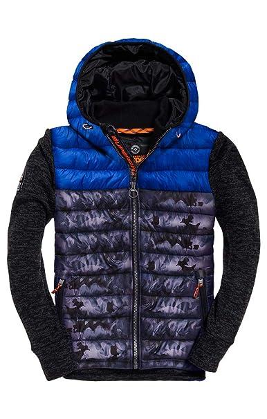 superdry mens storm hybrid camo jacket zip hoodie brand new size xsml to xxl