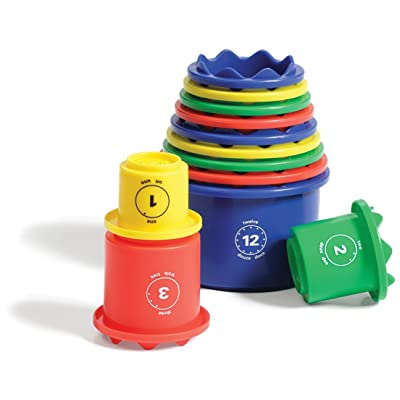 Discovery Toys Measure UP! Cups   Educational Stacking & Nesting 12 Piece Numbered Set  Kid-Powered Learning   STEM Toy Early Math Childhood Development 12 Months and Up: Toys & Games
