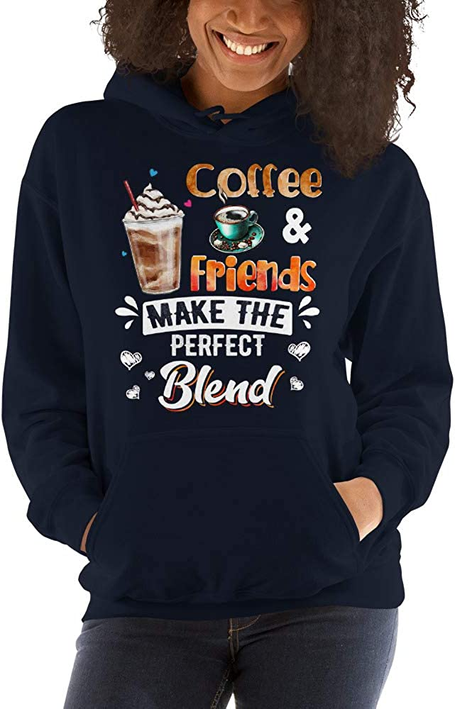 TEEPOMY Coffee and Friends Make The Perfect Blend Unisex Hoodie