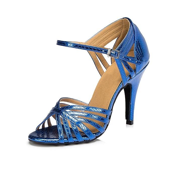misu - Zapatillas de danza para mujer Azul azul, color Azul, talla 40 2/3