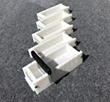 Lot of 4 HDPE Soap Loaf Making Mold and Multi Slot Soap Cutter 2 - 3 lb per mold