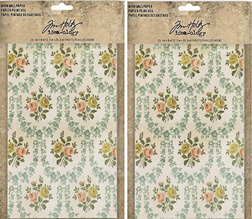 Tim Holtz Idea-Ology Worn Wallpaper - Bundle of Two ()