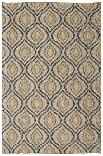 - Mohawk Home Laguna Ogee Waters Tan Geometric Contemporary Shag Area Rug, 5' x 8', Tan and Grey